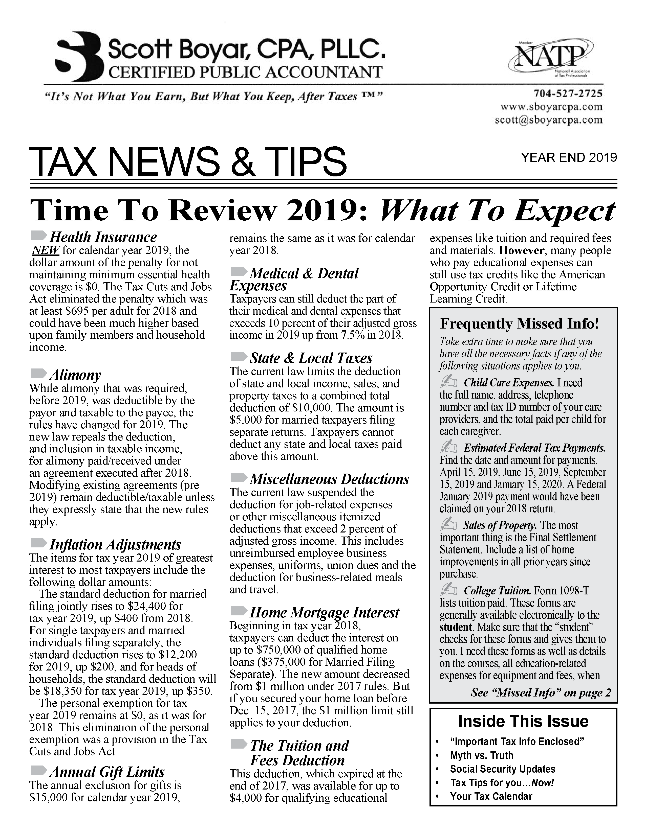 Tax News YE 2019-11-13-2019